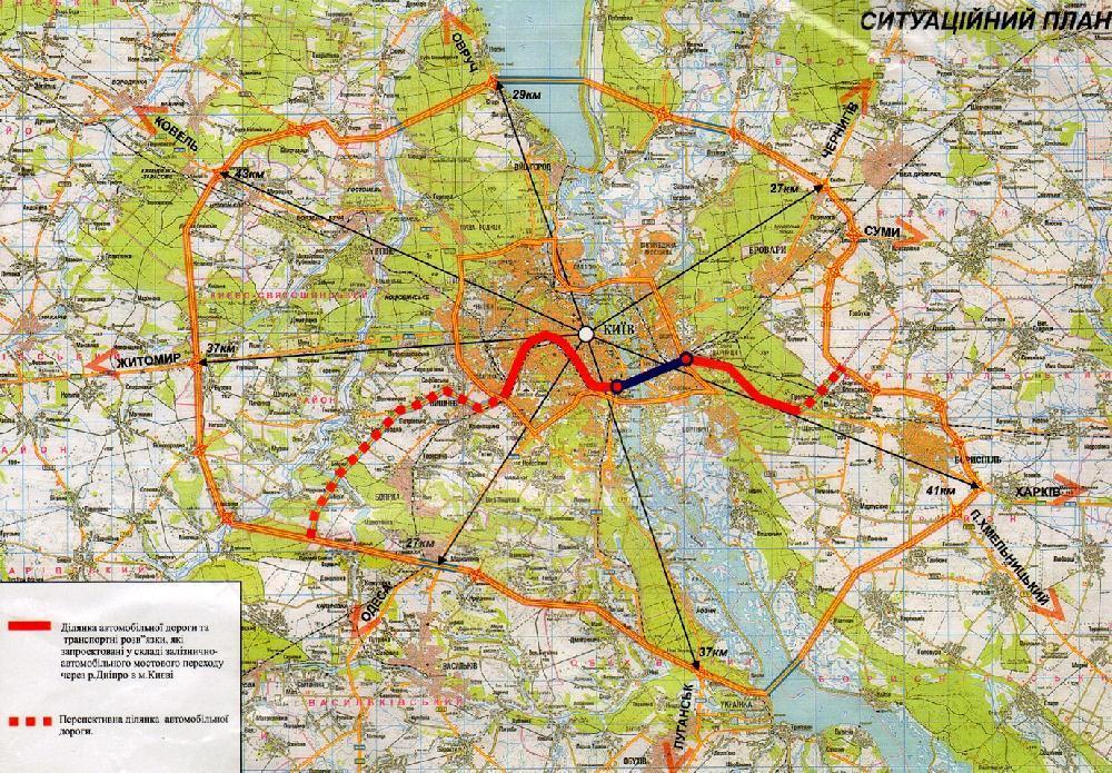 Схема Саратовской кольцевой автодороги